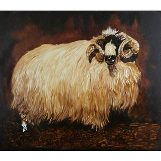 Robert Kitchen, Unfinished Ram, 2009, Oil on Canvas For Sale
