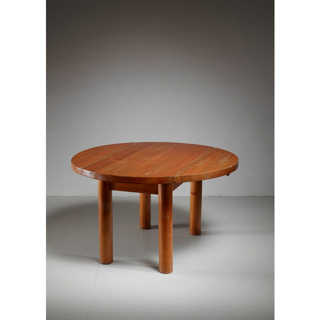 Charlotte Perriand Drop-Leaf Dining Table from the Doron Hotel, France For Sale - Image 6 of 6