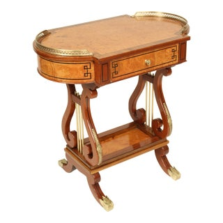 1970s Neoclassical Style Occasional Table For Sale