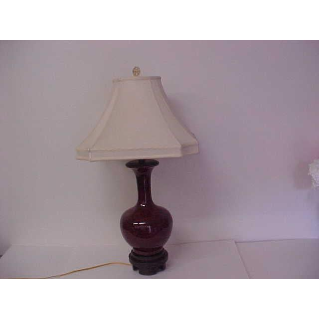 Asian Frederick Cooper Oxblood Lamp For Sale - Image 3 of 8