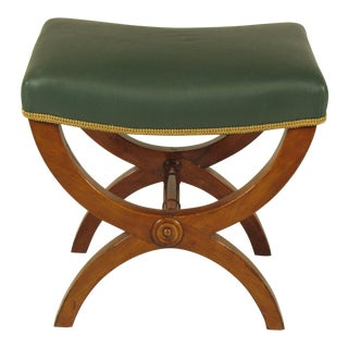 19th Century Vintage French Directoire Stool For Sale