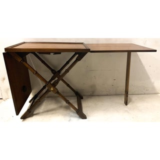 Regency Style Faux Bamboo Serving Table Preview