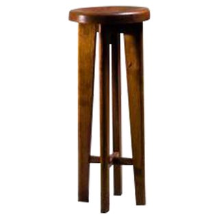 High French Stool in Oak, France, 1940s For Sale