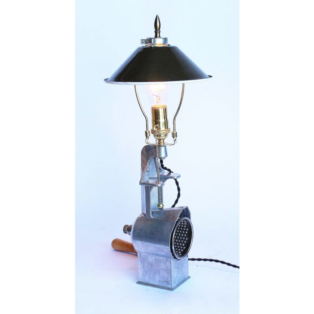 1950s Vintage Cheese Grater Lamp - Image 2 of 4