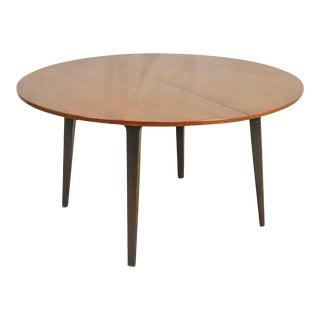 "Dunbar Edward Wormley Mid Century Modern 54"" Cherry & Walnut Dining Table For Sale"