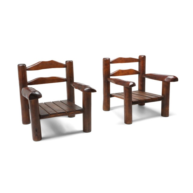 Naturalist rustic brutalist Wabi Sabi lounge chair in burl. Would fit well in an Axel Vervoordt inspired interior. Europe,...