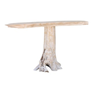 Slab Wood Rustic Console Table
