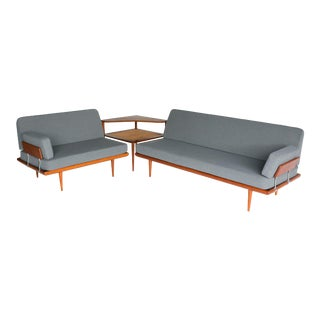 1960s Peter Hvidt and Orla Molgaard-Nielsen - Minerva Sofa Group of 3 For Sale