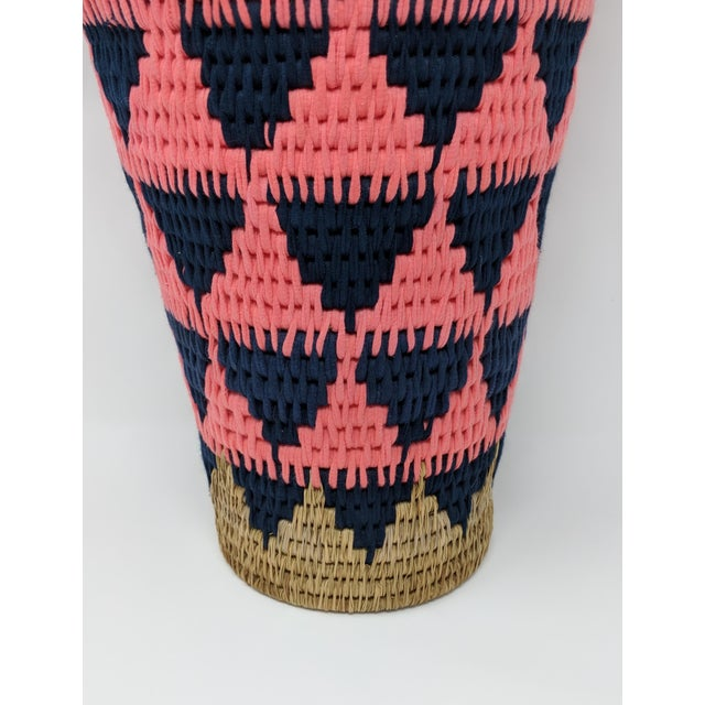 2010s African Woven Vase - Made in Swaziland For Sale - Image 5 of 13