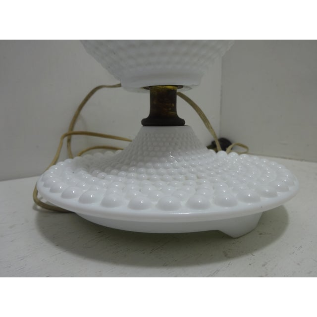 Gustavian (Swedish) Fenton Hobnail Milk Glass Table Lamps - a Pair For Sale - Image 3 of 6