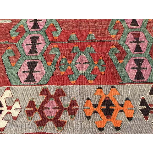 Rustic Rustic Turkish Kilim Rug For Sale - Image 3 of 11