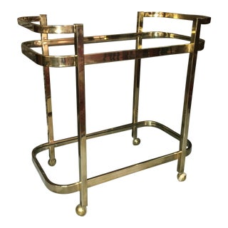 Vintage 2 Tier Brass Bar Cart