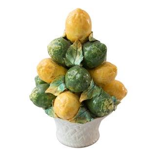 Vintage Italian Majolica Lemon & Lime Topiary