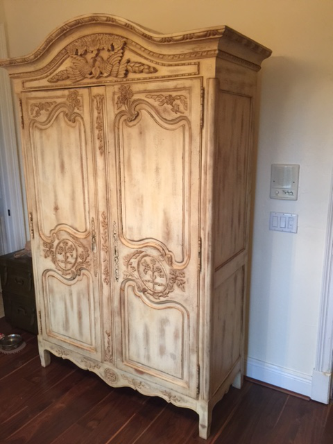 french antique hand carved armoire. Highland House Hand Carved French Armoire - Image 3 Of 8 Antique