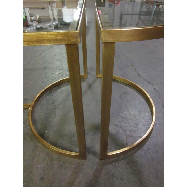 Italian Gilt Iron Cocktail Table in the Style of Maison Bagues For Sale In New York - Image 6 of 7
