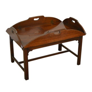 John Stuart Chippendale Style Rosewood Butlers Coffee Table For Sale