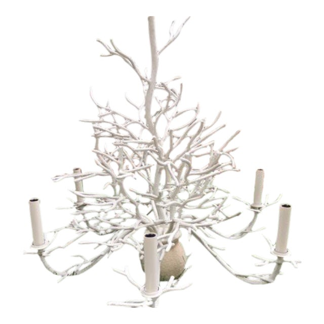 Currey and Company Seaward Faux Coral Chandelier - Image 1 of 5