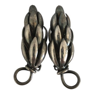 Vintage Napier Sterling Clip Earrings - a Pair For Sale