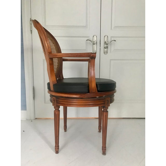 Brilliant Antique French Cane Swivel Armchair Chairish Short Links Chair Design For Home Short Linksinfo