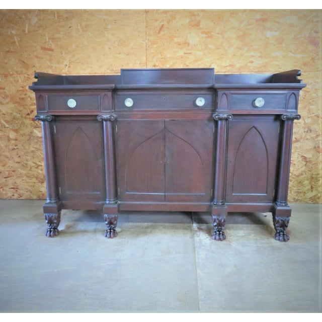 Empire Potthast Gothic Empie Mahogany Sideboard For Sale - Image 3 of 8