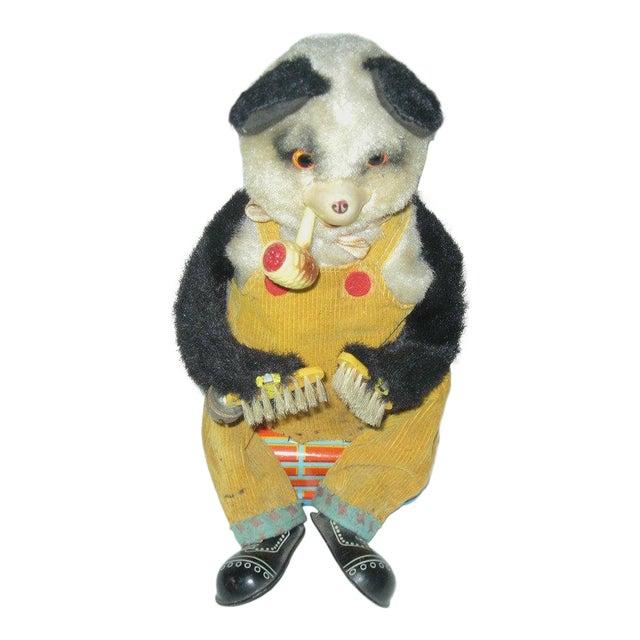 Smoking Panda Toy C.1950s For Sale