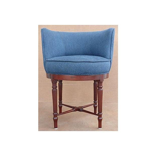 Neoclassical Swivel Vanity Chair - Image 3 of 8
