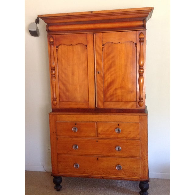 Antique American Pine Armoire - Image 4 of 11