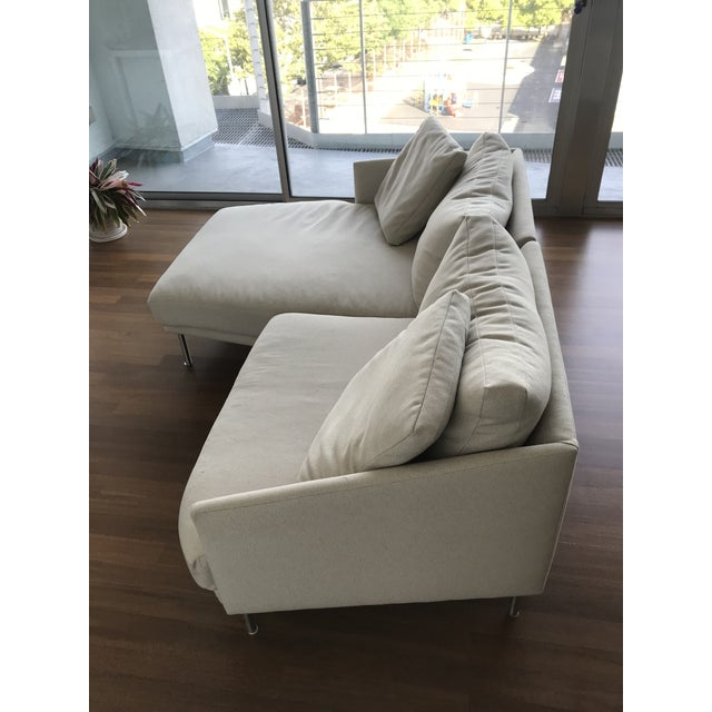 Modern Design Within Reach Camber Compact Sectional Sofa For Sale - Image 9 of 12