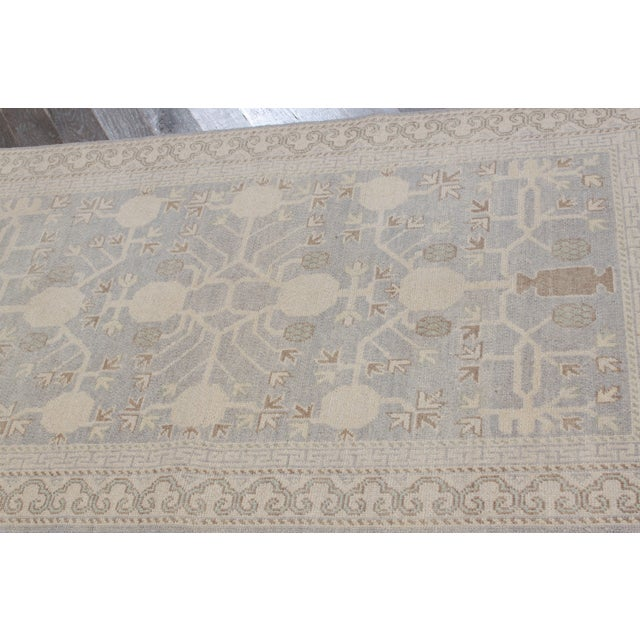 """Traditional Indian Khotan Rug- 2'6"""" x 5' For Sale - Image 3 of 3"""