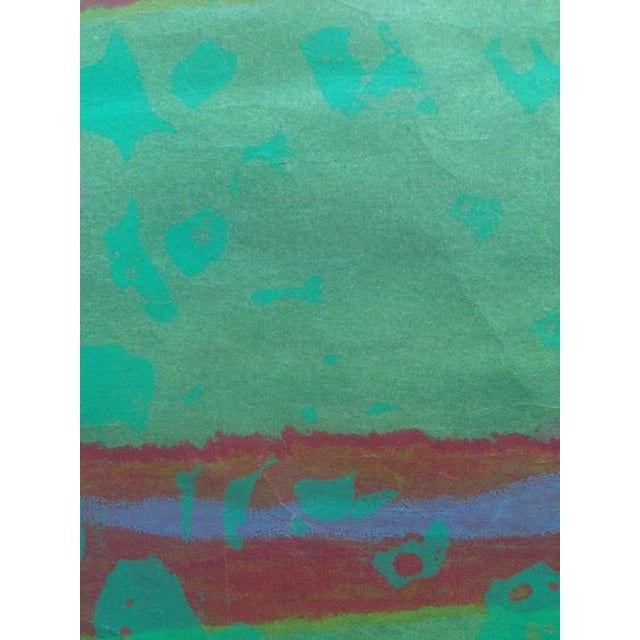 Abstract Mid Century Abstract Silkscreen Bay Area Female Artist For Sale - Image 3 of 8