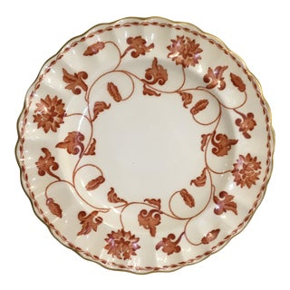 English Spode Porcelain Red Colonel Bread & Butter Plates Vintage - a Set of Eight For Sale