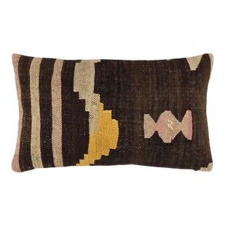 "Reclaimed Kilim Lumbar Pillow   12"" X 20"" For Sale"