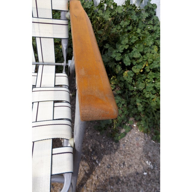 Vintage Aluminum Webbed Folding Lawn or Patio Chairs - A Pair - Image 6 of 9