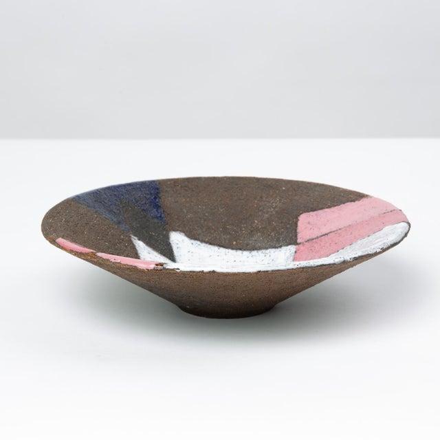 Mid-Century Modern Bitossi Patchwork Glazed Stoneware Bowl For Sale - Image 3 of 11