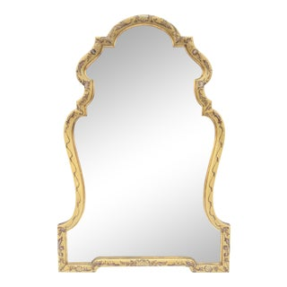 Baroque Gold Hand Painted Mirror by La Barge For Sale