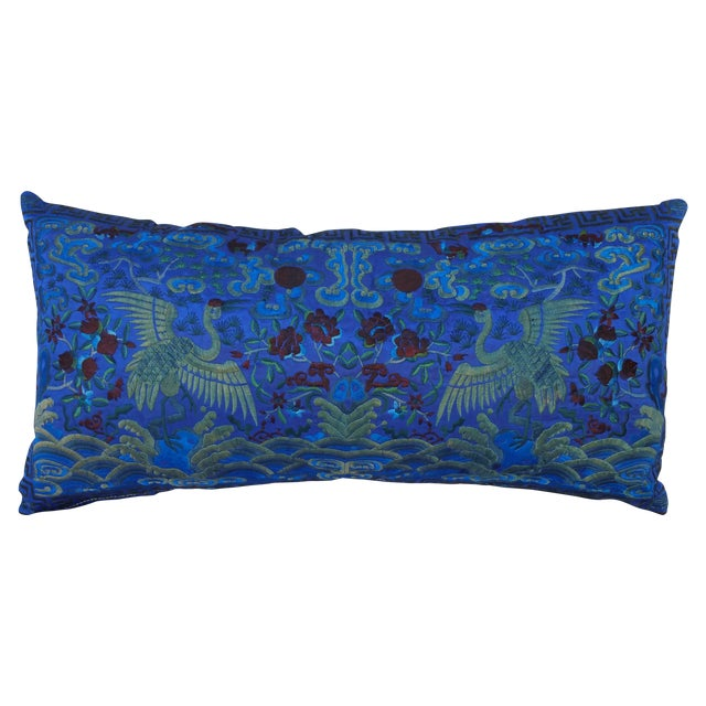 Opulant Silk Embroidered Pillow - Image 1 of 5