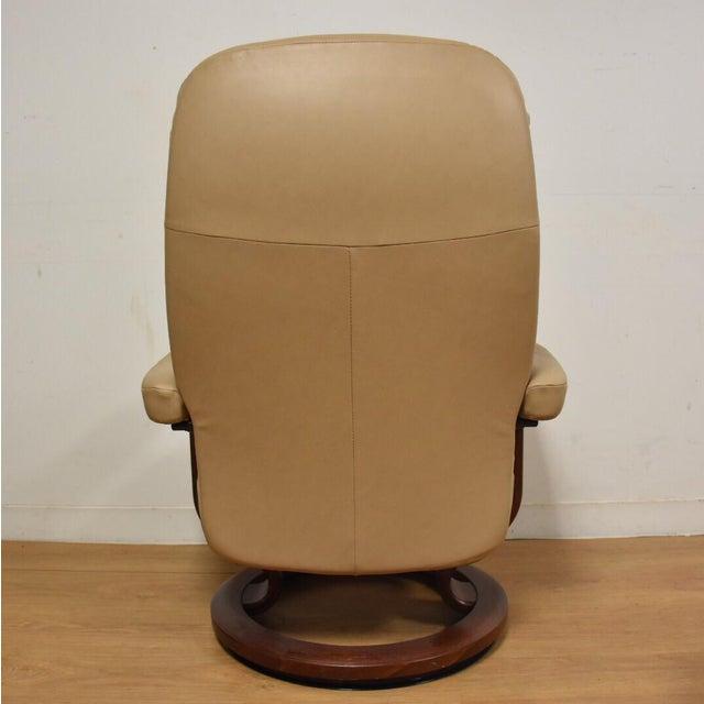 ekorness stressless recliner chair ottoman chairish