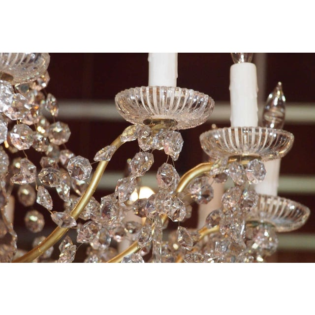 Bronze Antique French Crystal And Bronze 16-light Chandelier. For Sale - Image 7 of 9