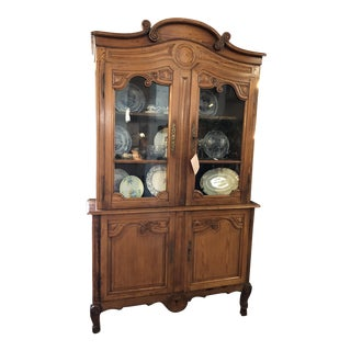 1840 French Pine Buffet 'A Deux Corps For Sale