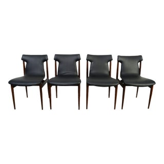 1960s Vintage Klingenberg for Fristho Danish Modern Rosewood Dining Chairs- Set of 4 For Sale