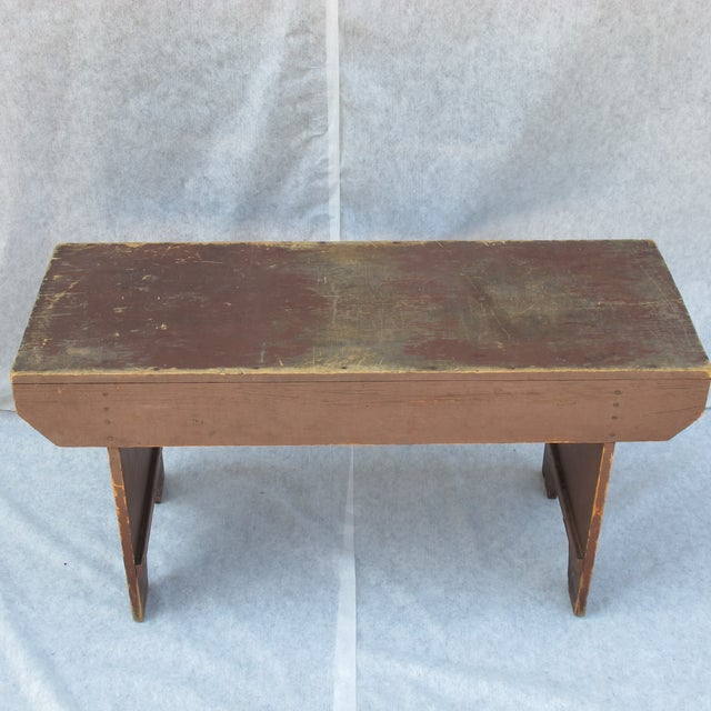 19th Century Antique Red Bench - Image 9 of 11