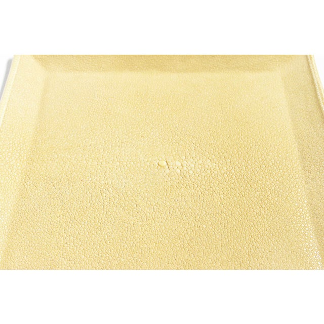 2010s Ivory Shagreen Tray by Fabio Ltd For Sale - Image 5 of 7