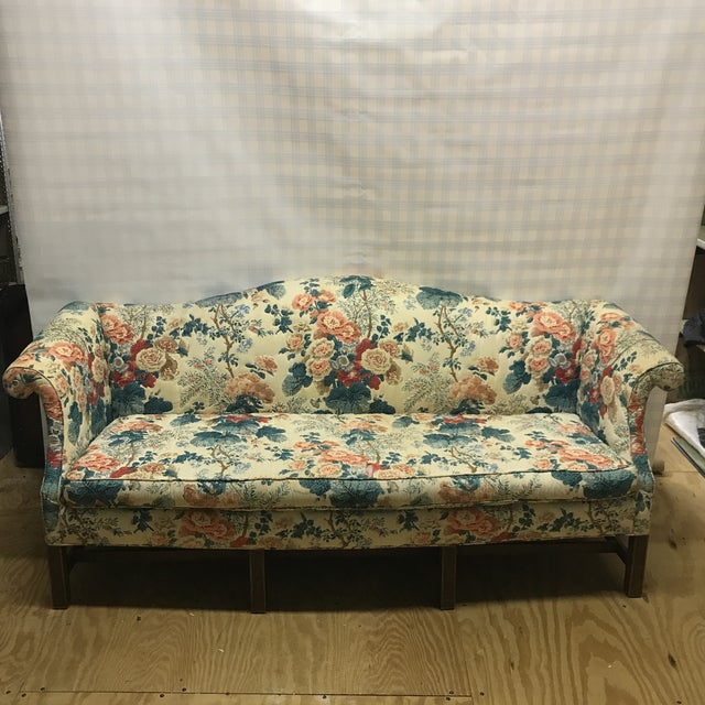 Hollyhock Chintz Camelback Sofa For Sale - Image 11 of 11