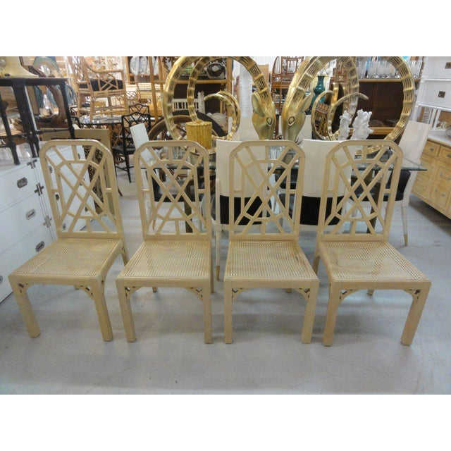 Palm Beach Regency Fretwork Chairs - Set of 6 - Image 10 of 11