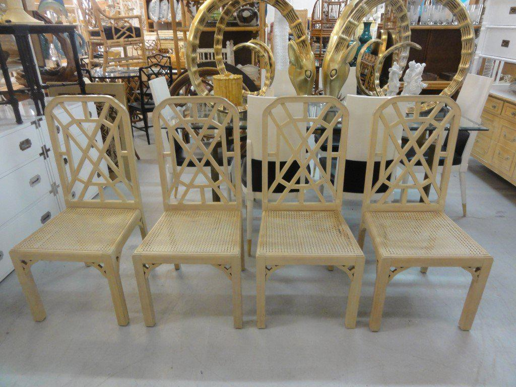 Palm Beach Regency Fretwork Chairs   Set Of 6   Image 10 Of 11
