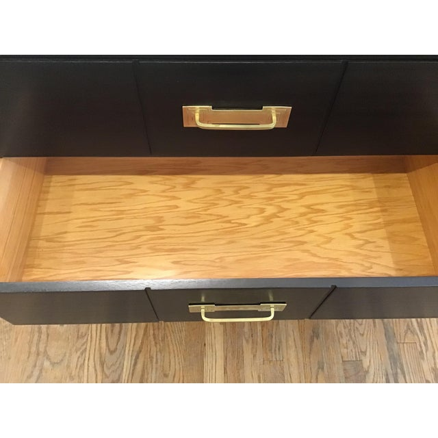 Metal 1950's Mid Century Tommi Parzinger for Charak Ebonized Chest of Drawers For Sale - Image 7 of 13