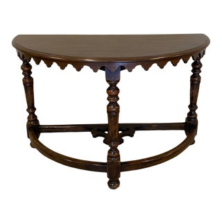 Walnut Demilune Table For Sale