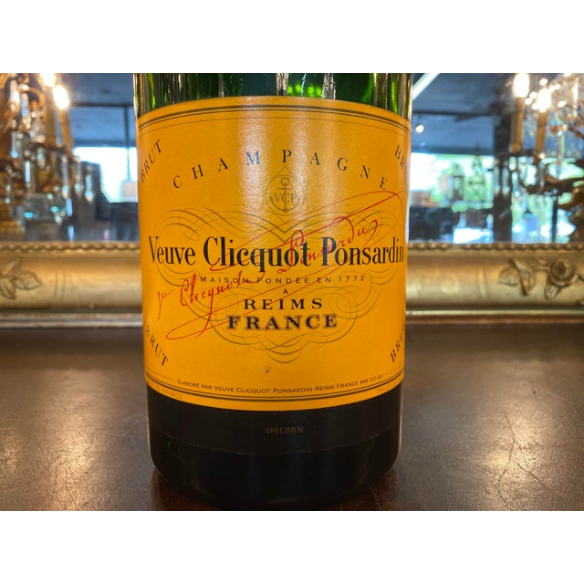 French advertising Veuve Clicquot bottle sample. These specimen bottles were used for display and advertising purposes at...