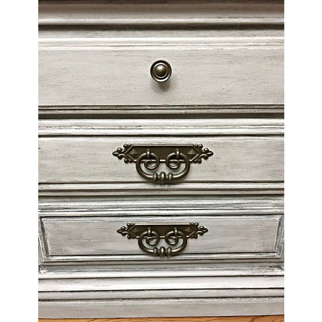 Light Grey Glazed Nightstands - Pair For Sale In New York - Image 6 of 7