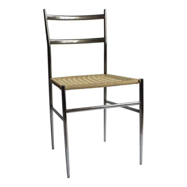 Gio Ponti Attributed Chrome Chair - Image 1 of 2